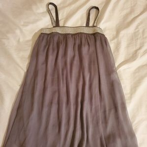 Gray party dress with sequins